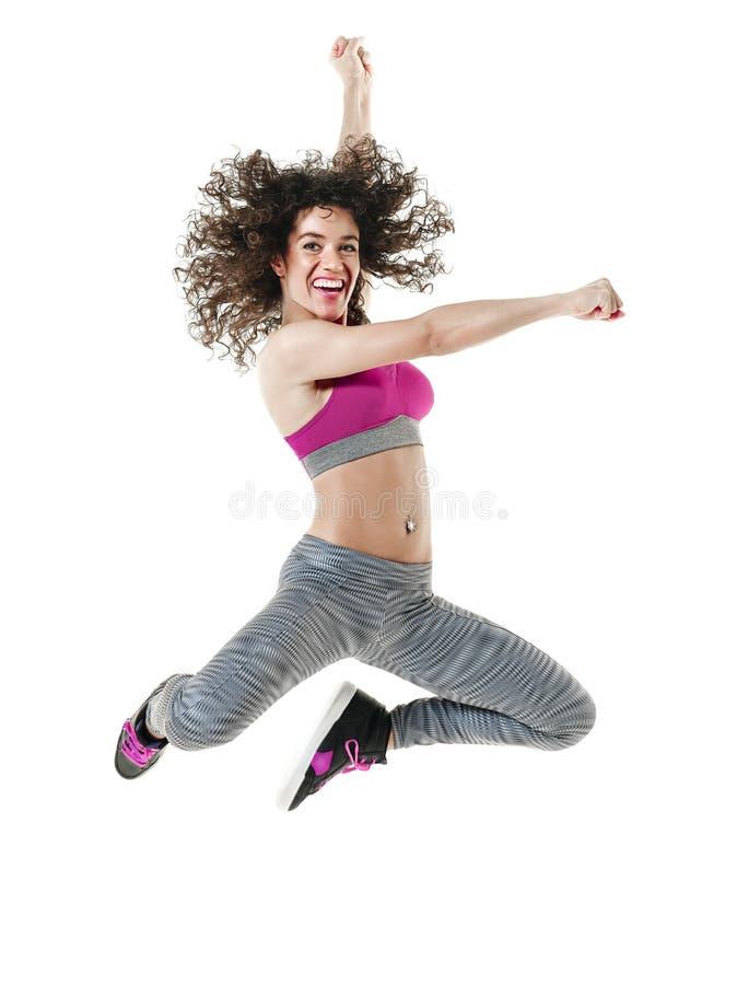 Övningar för kondition för kvinnadansaredans fotografering för bildbyråer