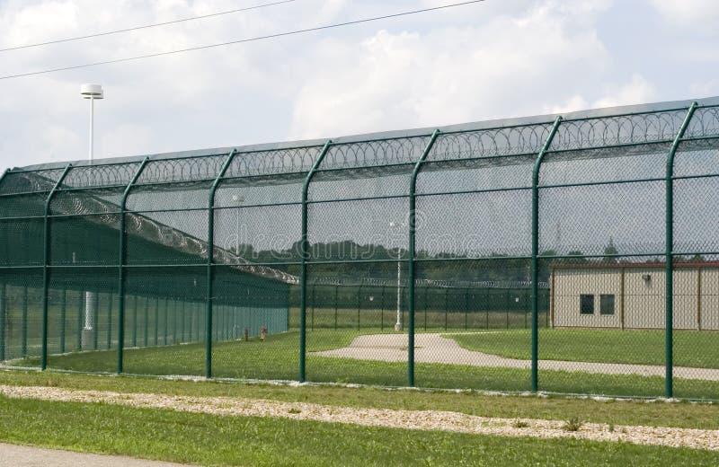 övningsfängelsegård arkivbild