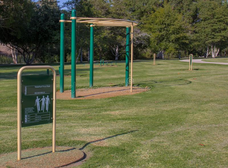 Övningsutrustning på William Mason Regional Park royaltyfria bilder