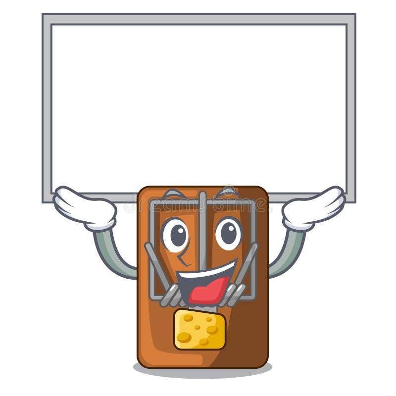 Övre bräderåttfälla i a-teckenformen vektor illustrationer