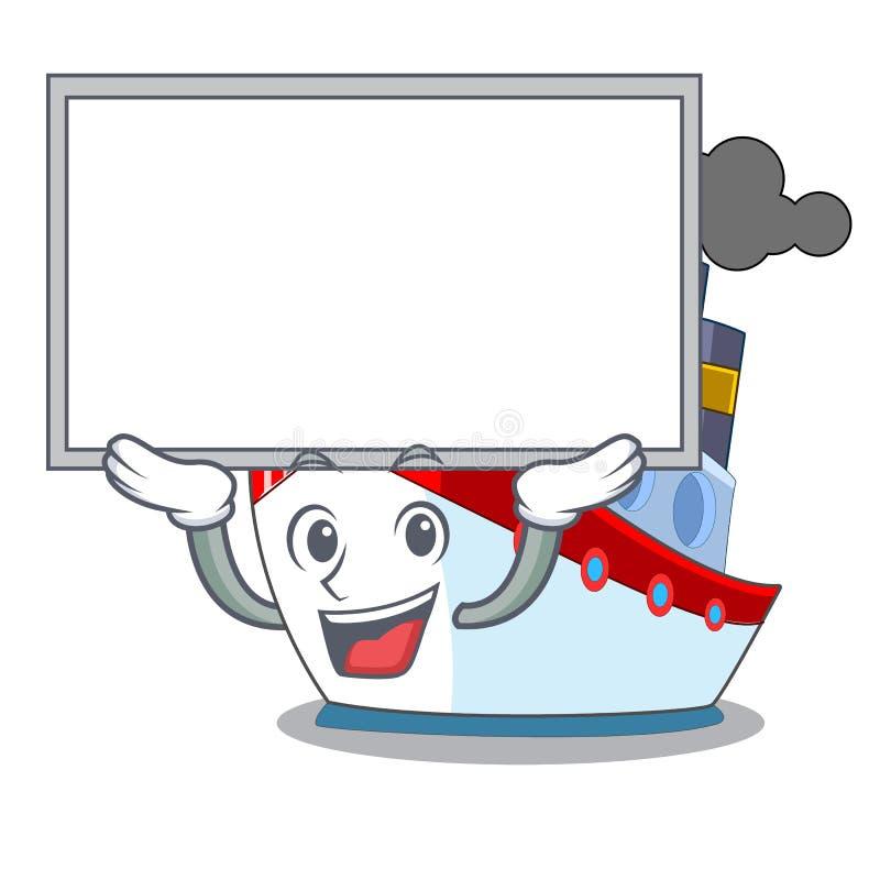 Övre brädeskepp i trans.havmaskot royaltyfri illustrationer