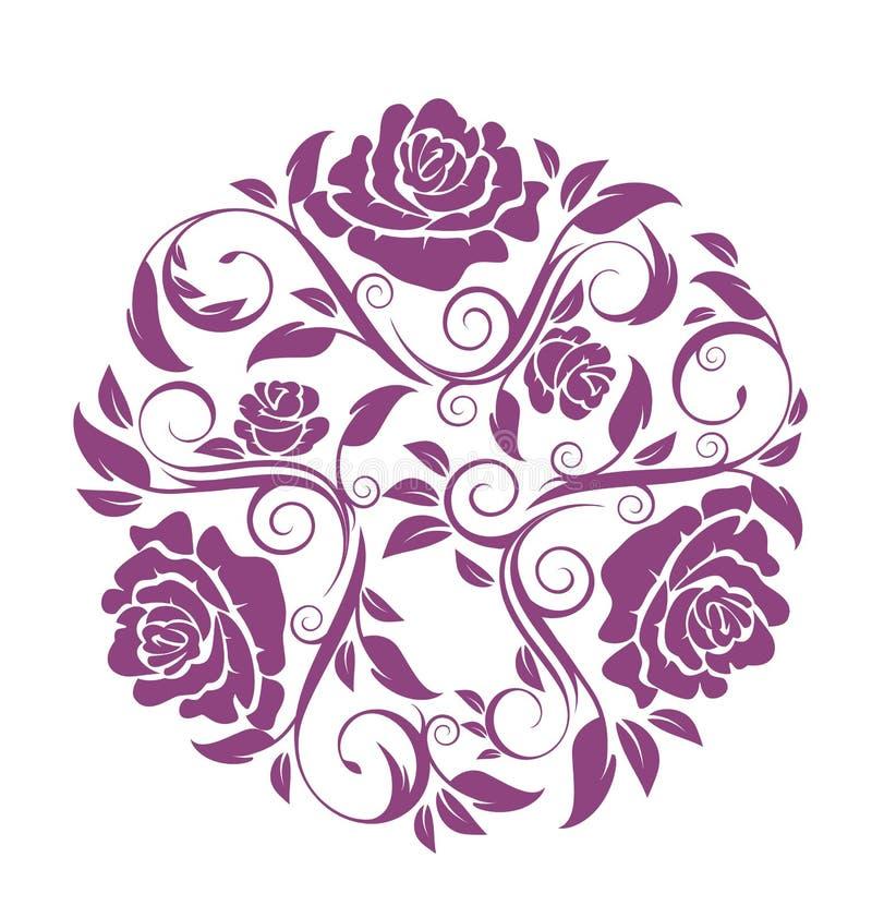 övre för täta blommor för skönhet naturligt rosa rose stock illustrationer
