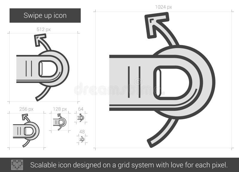 Övre linje symbol för hårt slag stock illustrationer