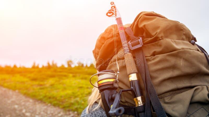 Övre ryggsäck för slut fotografering för bildbyråer