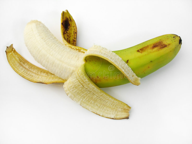 övre Sikt För Banan Arkivfoto