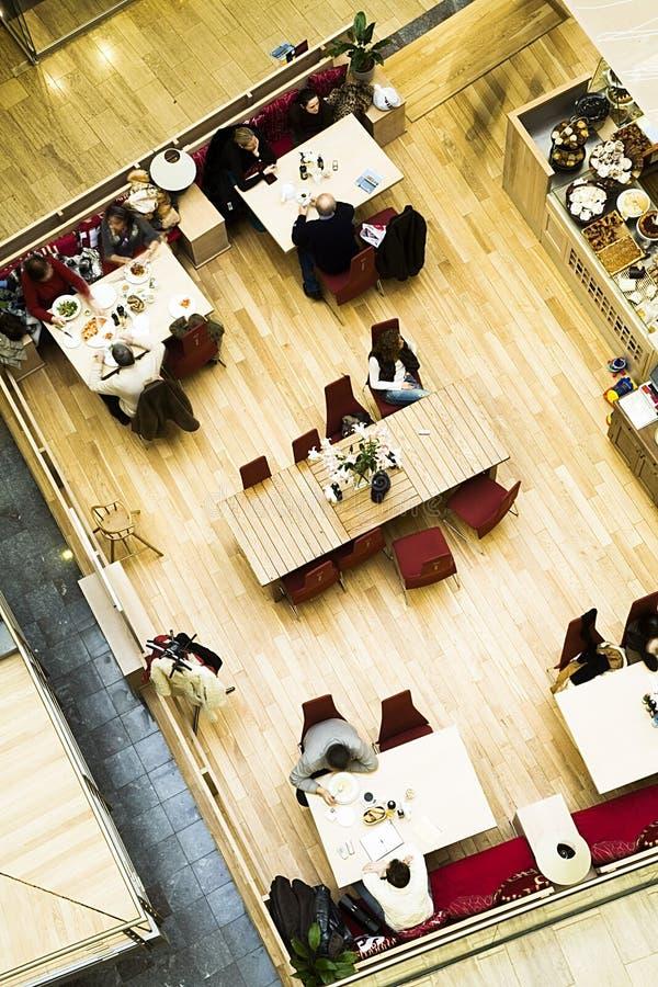 övre Sikt För Cafe Arkivbilder