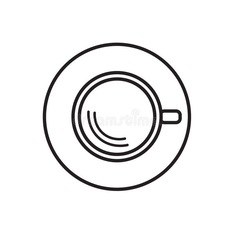 övre sikt för coffekopp vektor illustrationer
