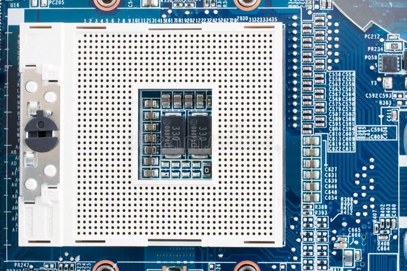 övre sikt för CPU-stickkontakt royaltyfria bilder