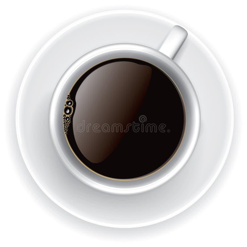 övre sikt för kaffekopp vektor illustrationer