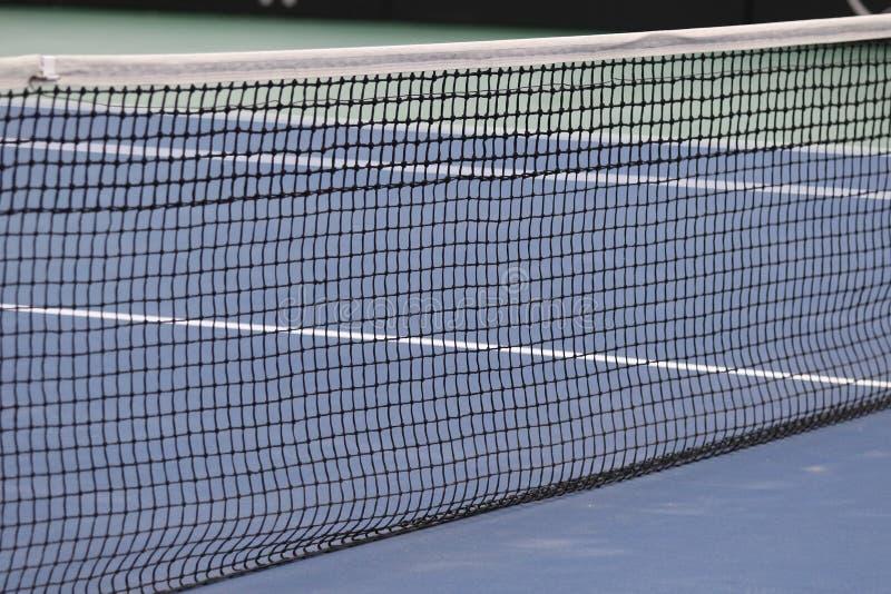 Övre sikt för slut av tennisbanan fotografering för bildbyråer