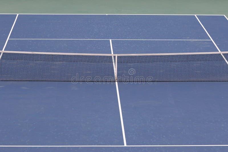Övre sikt för slut av tennisbanan arkivfoton