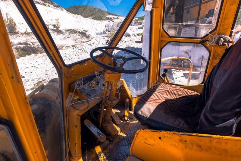 Övre sikt för slut på grävskopan royaltyfria bilder