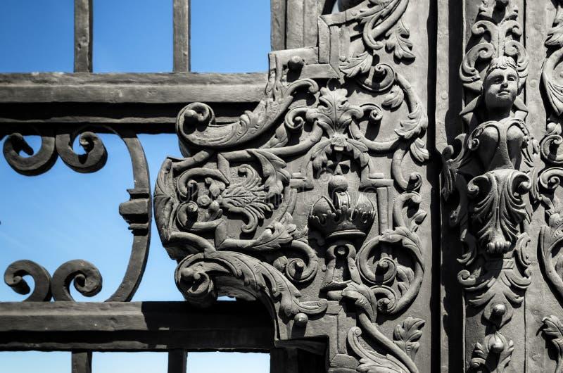 ÖvreBelvedereslott i Wien, detalj royaltyfria bilder