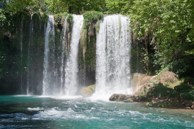 ÖvreDuden vattenfall i Antalya (Turkiet) royaltyfri foto