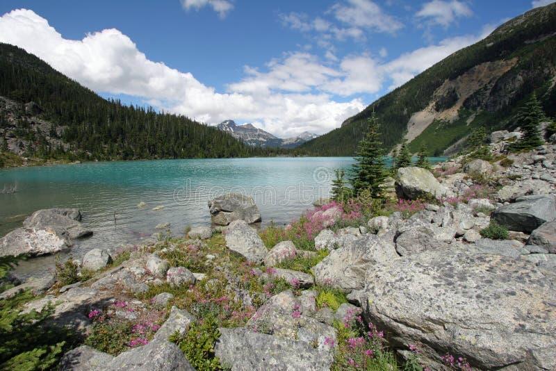 ?vreJoffre Lake i Joffre Lakes Provincial Park, Kanada royaltyfri fotografi