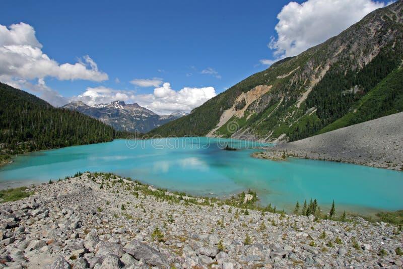 ?vreJoffre Lake i Joffre Lakes Provincial Park, Kanada royaltyfria bilder