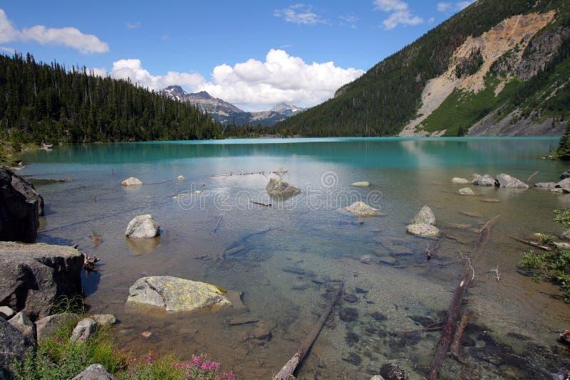 ?vreJoffre Lake i Joffre Lakes Provincial Park, Kanada royaltyfri foto
