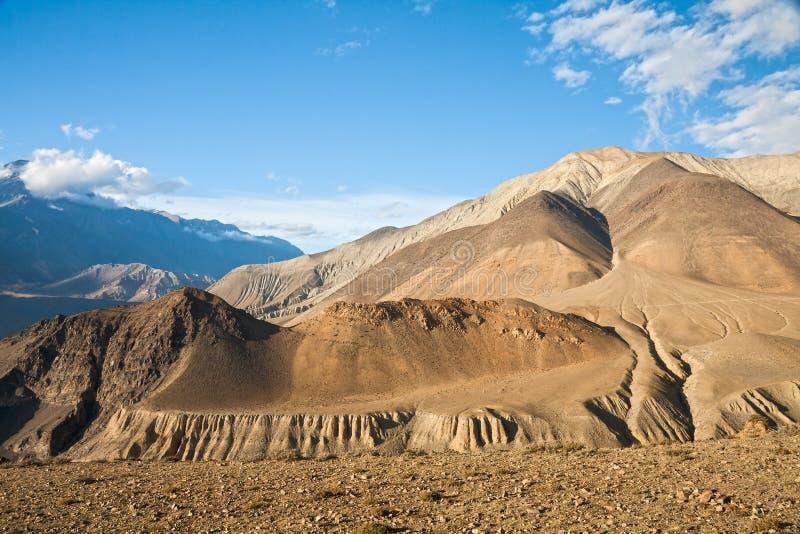 Övremustangberglandskap, Nepal arkivbild