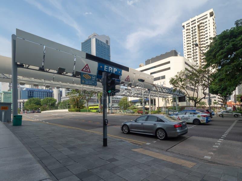 ?vrerund v?g, Singapore arkivfoto