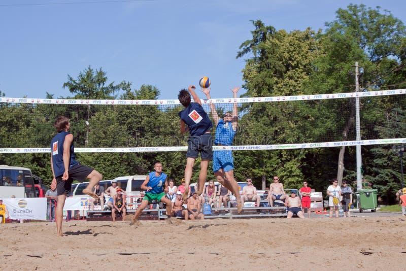 ø competiam internacional do voleibol da praia fotografia de stock royalty free