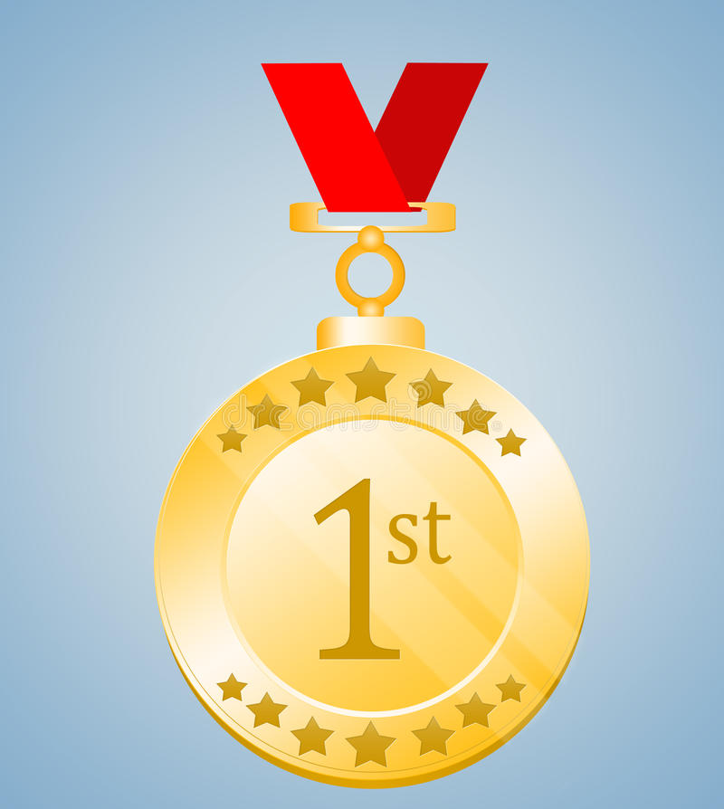 ø Posicione a medalha ilustração do vetor