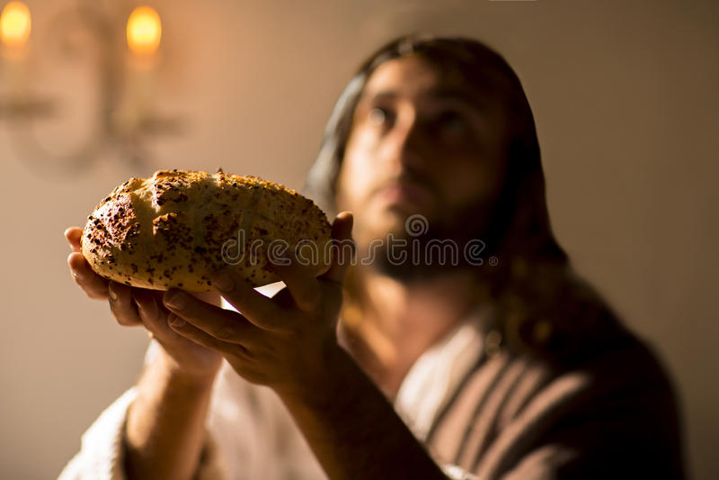 A última ceia de Jesus Christ foto de stock