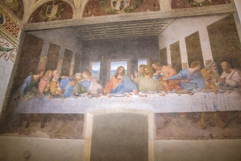 Última cena Milán imagen de archivo libre de regalías