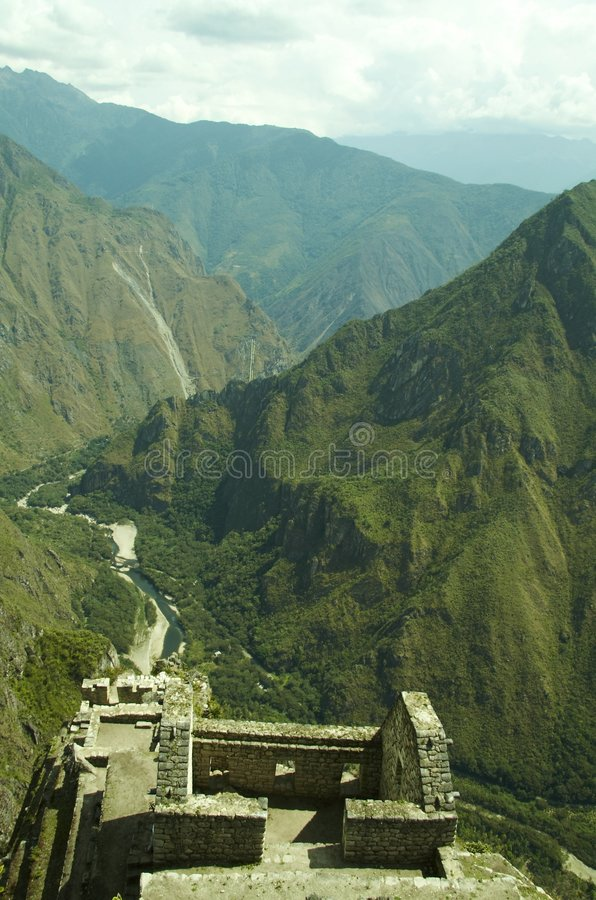 Última cidade Machu-Picchu dos incas fotografia de stock