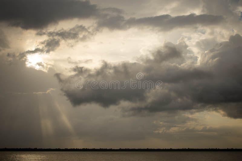 A última luz do sol, Belém, Brasil, 09/23/2018 fotos de stock