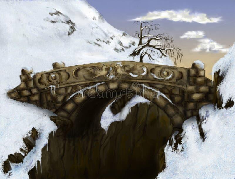 A última ponte ilustração royalty free