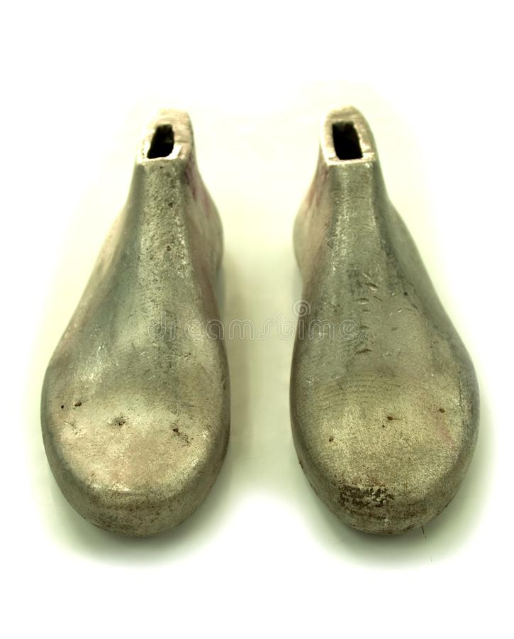 Último del aluminio del fabricante de zapato imagen de archivo