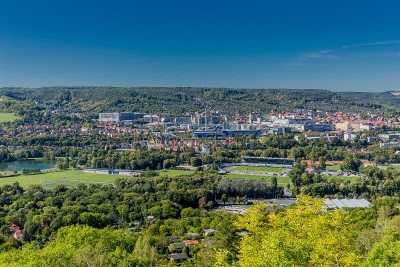 Último dia de Verão no cênico Vale do Saale - Jena/Alemanha imagem de stock