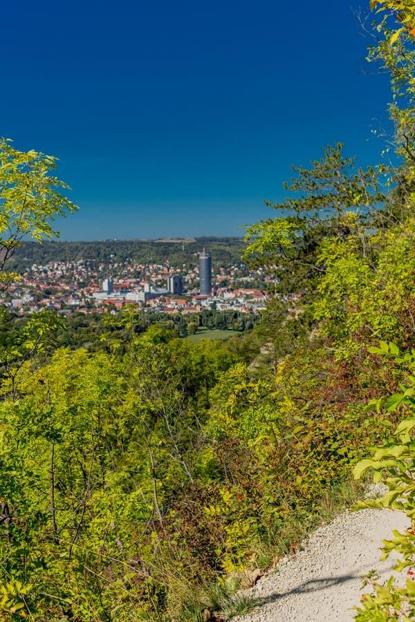 Último dia de Verão no cênico Vale do Saale - Jena/Alemanha imagens de stock