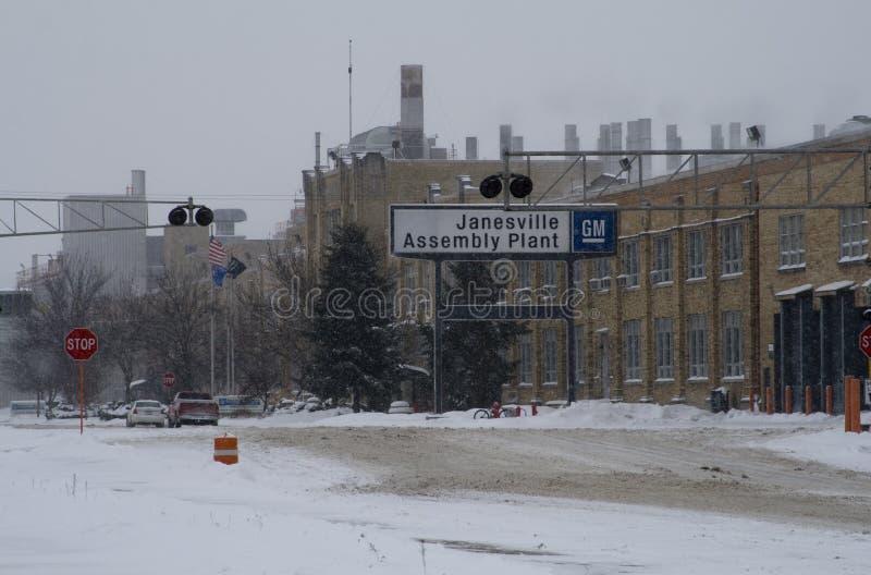 Último dia para a planta do GM em Janesville, Wisconsin imagem de stock