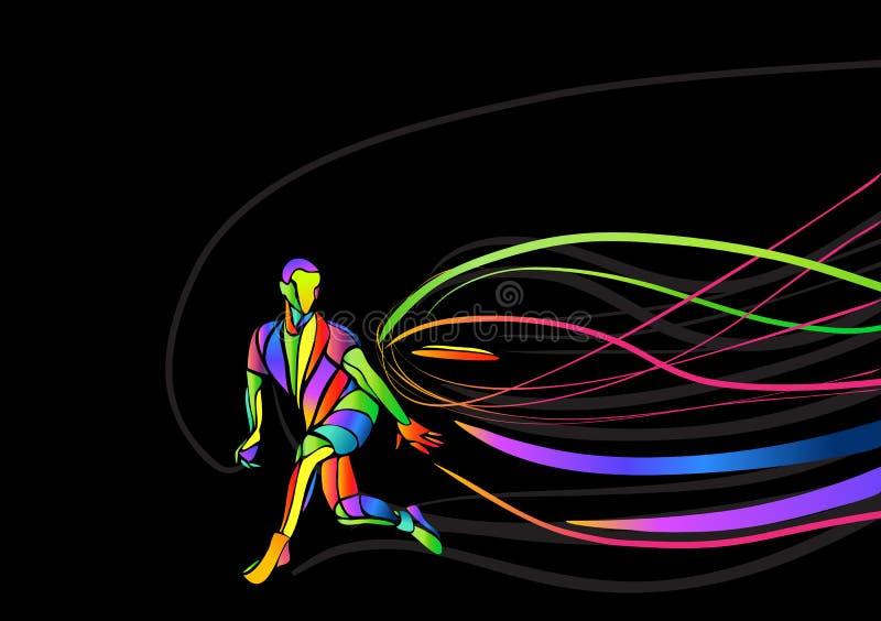 Último fondo del cartel o del aviador de la invitación del deporte con el espacio vacío, plantilla de la bandera ilustración del vector