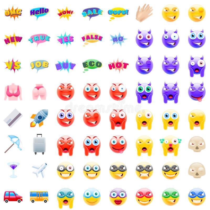 Último sistema de Emojis moderno libre illustration