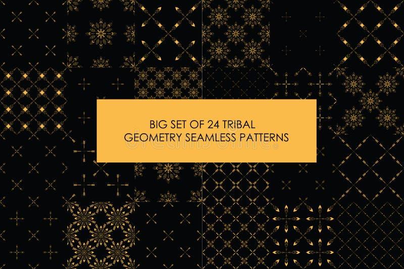 Último sistema rentable de 24 modelos inconsútiles del minimalismo tribal libre illustration