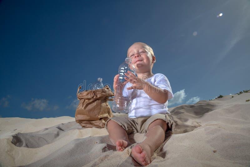 Último sorvo da água fotografia de stock royalty free