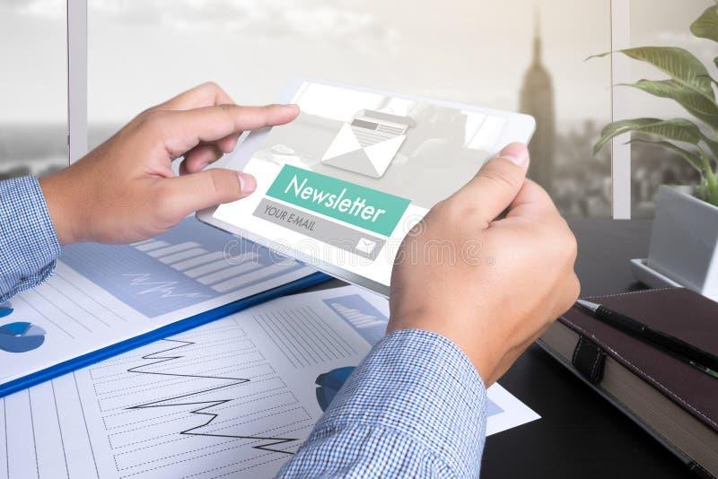 Únase al hoja informativa del registro a la información de la actualización y suscriba el registro fotografía de archivo libre de regalías