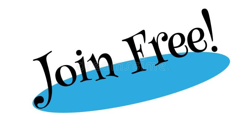 Únase al sello de goma libre ilustración del vector