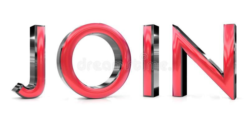 Únase a la palabra 3d ilustración del vector