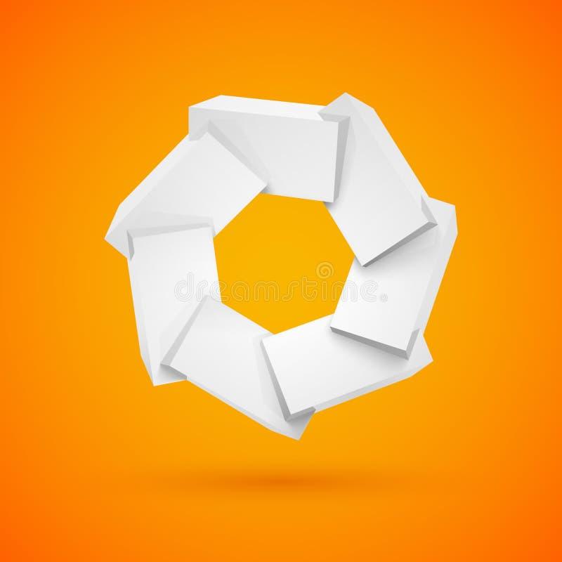 Únase a los cubos plásticos brillantes brillantes blancos libre illustration
