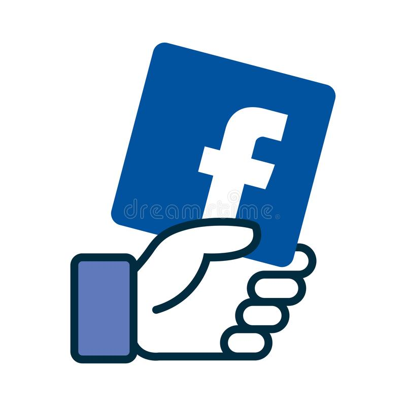 Únase a nos en icono del facebook stock de ilustración