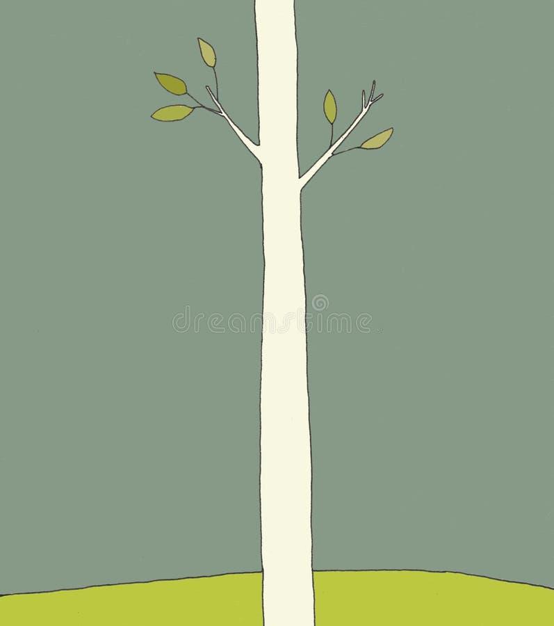 Única árvore ilustração stock