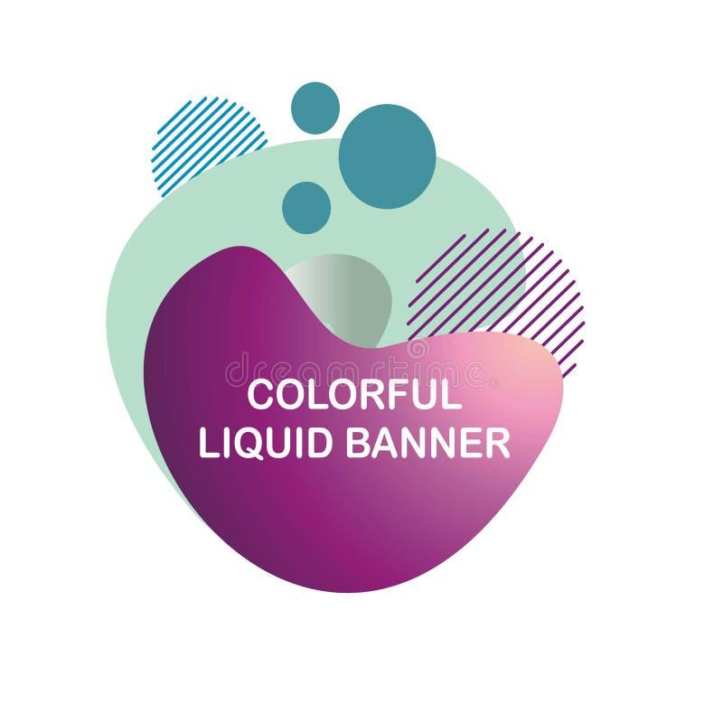 Única bandeira líquida abstrata colorida fotos de stock