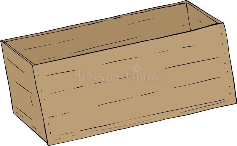 Única caixa de madeira vazia ilustração royalty free