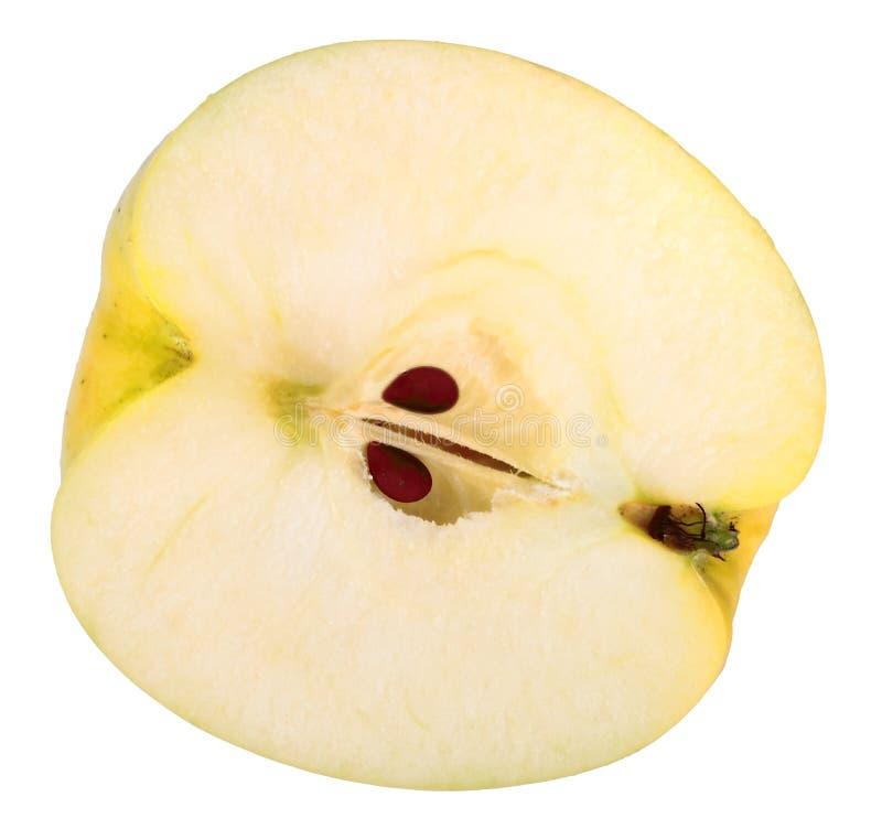 Única cruz da maçã amarela imagens de stock