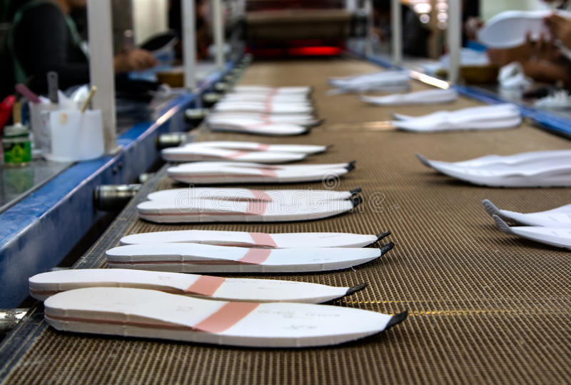 Única fábrica de fabricación del zapato imagen de archivo libre de regalías