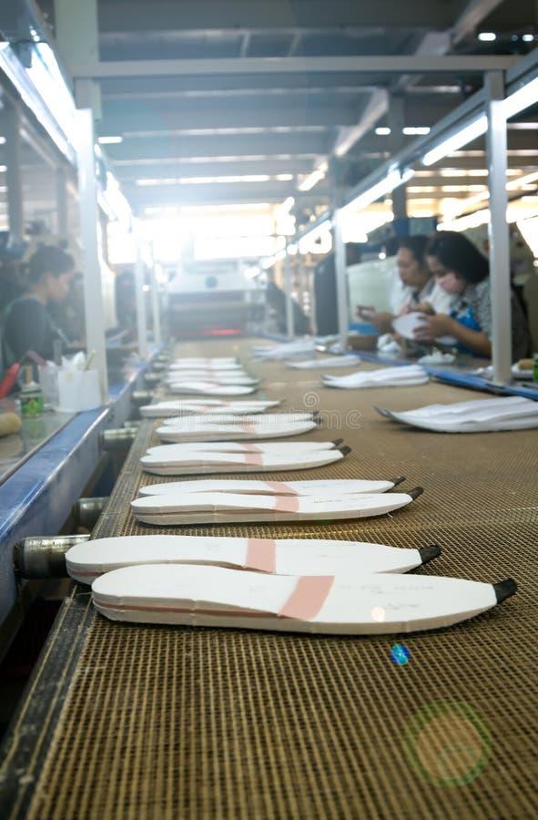 Única fábrica de fabricación del zapato fotos de archivo libres de regalías