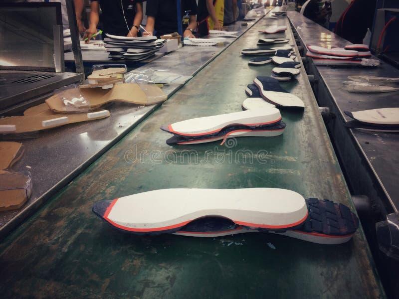 Única fábrica de fabricación del zapato foto de archivo libre de regalías
